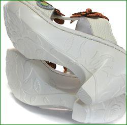 エスタシオン靴  estacion  et025ivo アイボリー 底の画像