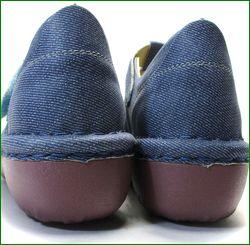 エスタシオン靴 estacion  et06de  革デニム カカトの画像