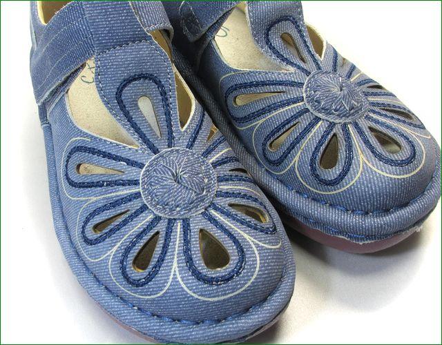 エスタシオン靴 estacion  et06de  革デニム アップの画像