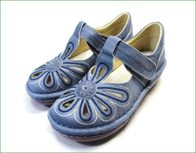 エスタシオン靴 estacion  et06de  革デニム 全体の画像
