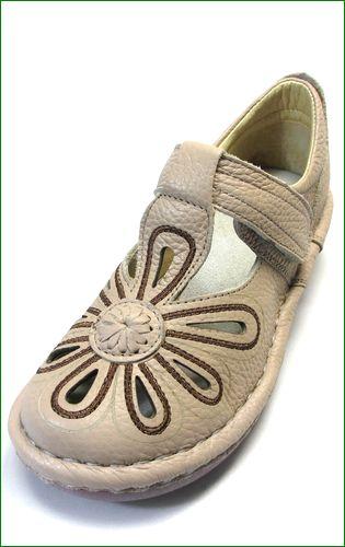 エスタシオン靴 estacion  et06ok  オークベージュ  左画像