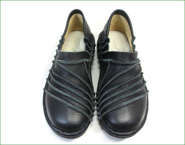 エスタシオン靴 estacion et105bl  ブラック 正面の画像