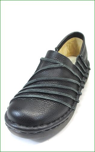 エスタシオン靴 estacion et105bl  ブラック 左画像