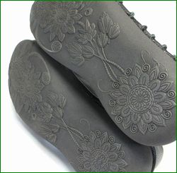 エスタシオン靴 estacion et105bl  ブラック 底の画像