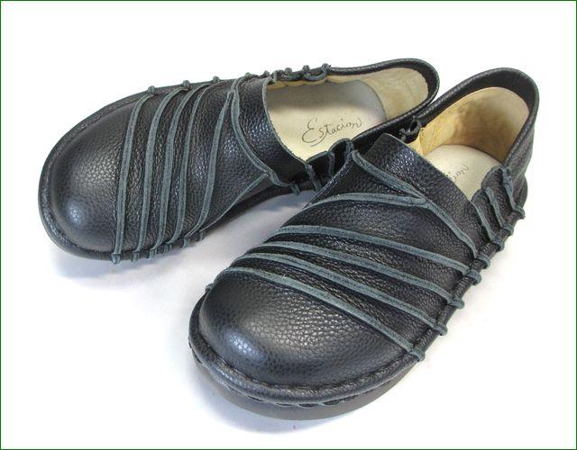 エスタシオン靴 estacion et105bl  ブラック アップ画像