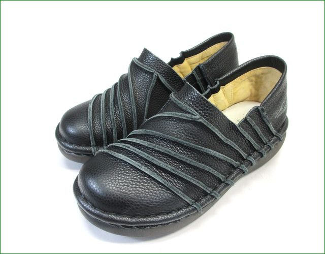 エスタシオン靴 estacion et105bl  ブラック 全体画像