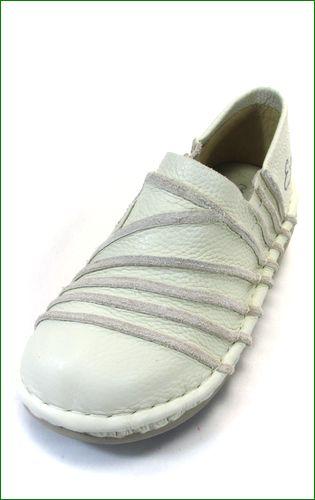 エスタシオン靴  estacion  et105iv アイボリー 左画像
