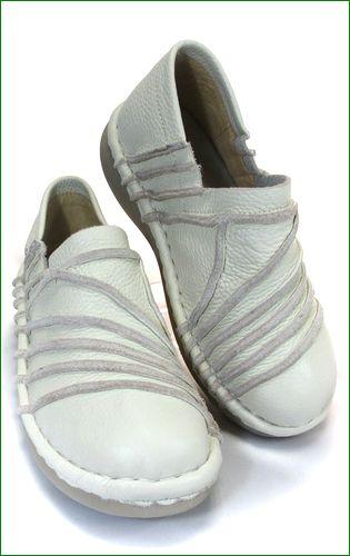 エスタシオン靴  estacion  et105iv アイボリー 右画像