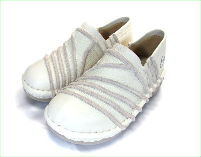 エスタシオン靴  estacion  et105iv アイボリー 全体画像