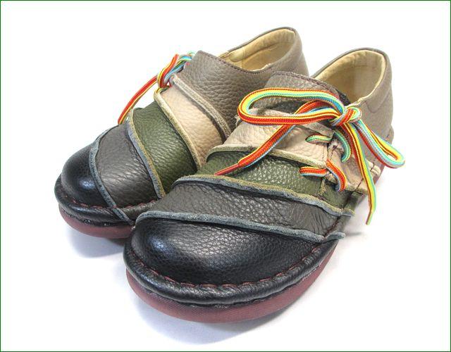 エスタシオン靴  estacion  et110blm ブラックマルチ 全体画像
