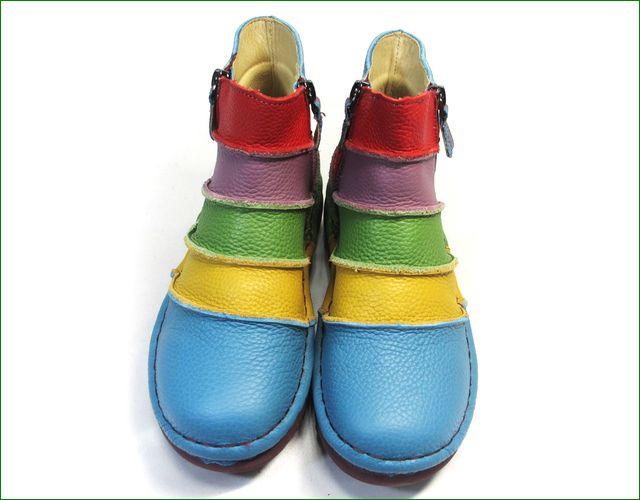 エスタシオン靴 estacion et117bu  ブルーマルチ 正面の画像