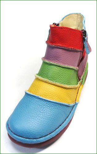 エスタシオン靴 estacion et117bu  ブルーマルチ 左画像