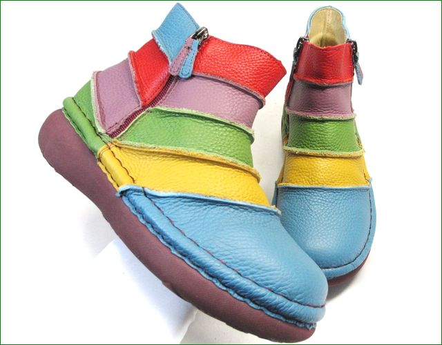 エスタシオン靴 estacion et117bu  ブルーマルチ アップ画像