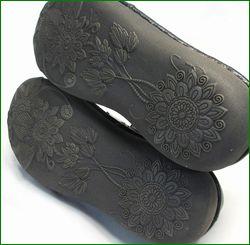 エスタシオン靴  estacion  et119bliv ブラックアイボリー ソール画像