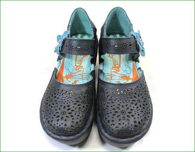 エスタシオン靴 estacion  et134nv  ネイビー アップの画像