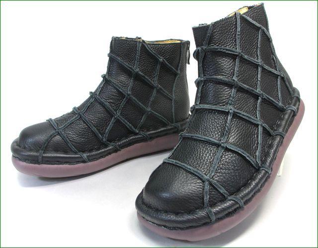 エスタシオン靴 estacion et1451bl   ブラック 正面の画像