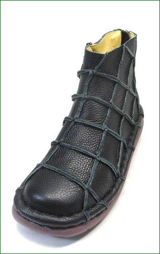エスタシオン靴 estacion et1451bl   ブラック 左画像