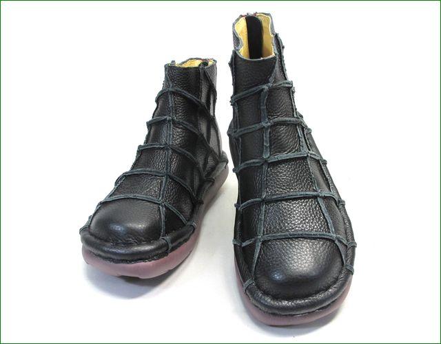 エスタシオン靴 estacion et1451bl   ブラック アップ画像