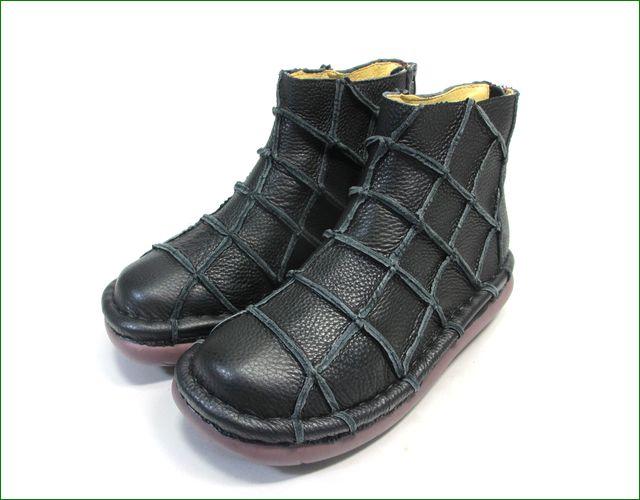 エスタシオン靴 estacion et1451bl   ブラック 全体画像