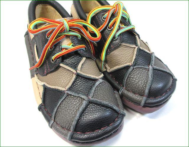 estacion靴  エスタシオン et154blm ブラックマルチ  アップの画像