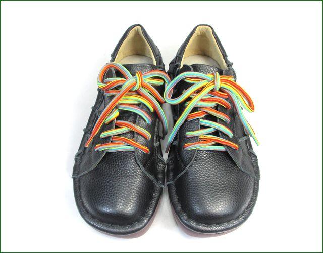 estacion靴  エスタシオン et155bla ブラック  正面の画像
