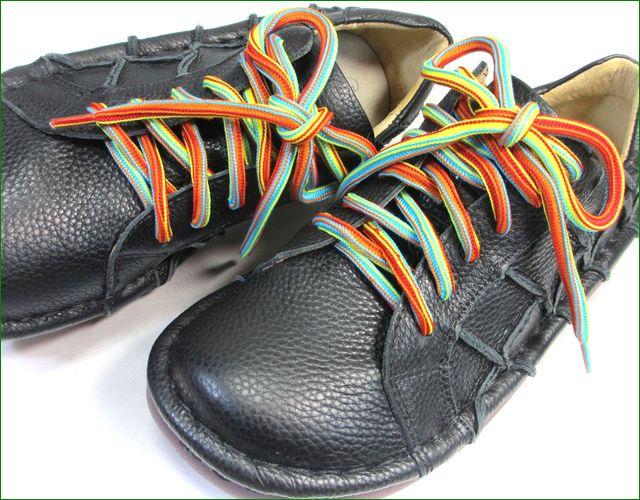 estacion靴  エスタシオン et155bla ブラック  ズームアップの画像