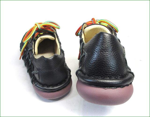 estacion靴  エスタシオン et155bla ブラック  後ろからの画像
