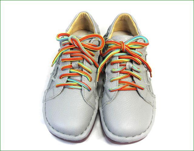 estacion靴  エスタシオン et155gy グレイ  正面の画像