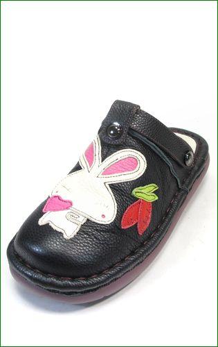 エスタシオン靴 estacion et156bl   ブラック 左画像