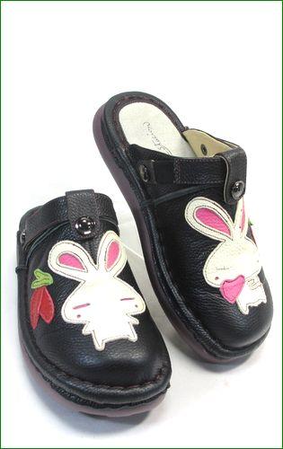 エスタシオン靴 estacion et156bl   ブラック 右画像