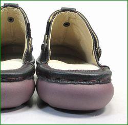 エスタシオン靴 estacion et156bl   ブラック 後ろ画像