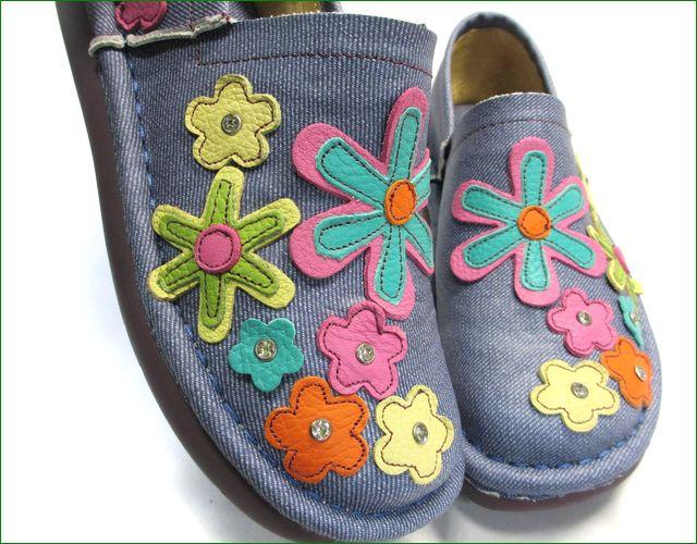 エスタシオン靴 estacion et220Nde 革デニムブルー 部分画像