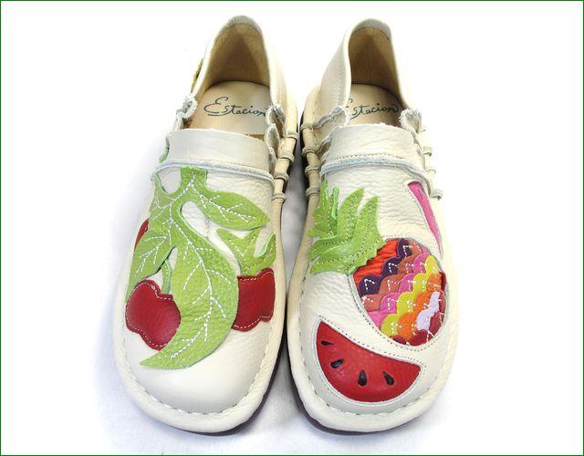 エスタシオン靴 estacion  et231229iv  アイボリー アップの画像