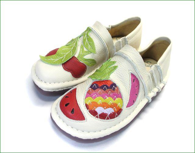 エスタシオン靴 estacion  et231229iv  アイボリー 全体の画像