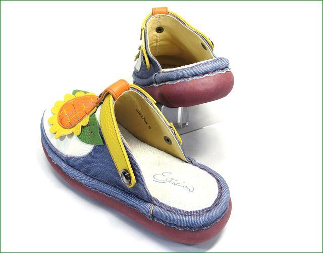 エスタシオン靴 estacion   et279de 革デニム  パーツの画像