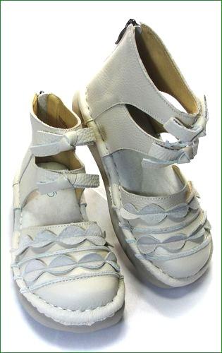 エスタシオン靴 estacion  et285iv アイボリー 全体画像
