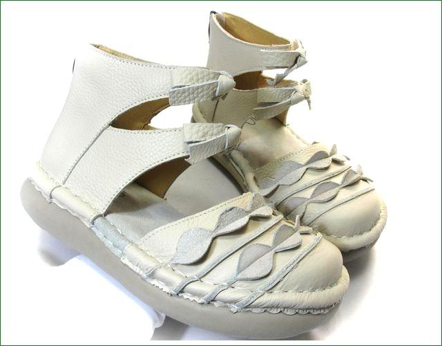 エスタシオン靴 estacion  et285iv アイボリー アップ画像
