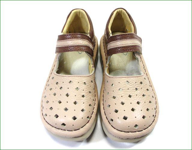 エスタシオン靴 estacion  et295bg  ベージュ アップの画像