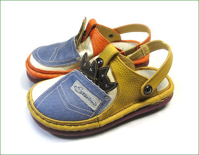 エスタシオン靴  estacion  et3011orye オレンジイエロー バックベルトの全体画像