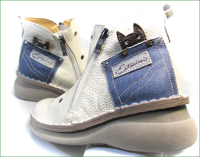エスタシオン靴 estacion  et3030iv アイボリー パーツの画像