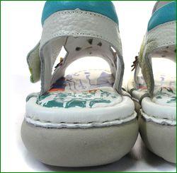 エスタシオン靴 estacion   et309iv アイボリー  カカトの画像