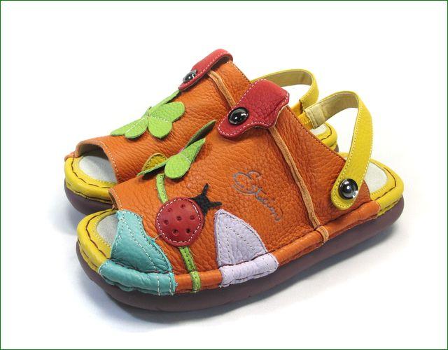 エスタシオン靴 estacion et321or オレンジマルチ ベルトの画像