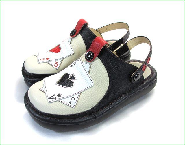エスタシオン靴  estacion  et3371ivbl アイボリーブラック 全体画像
