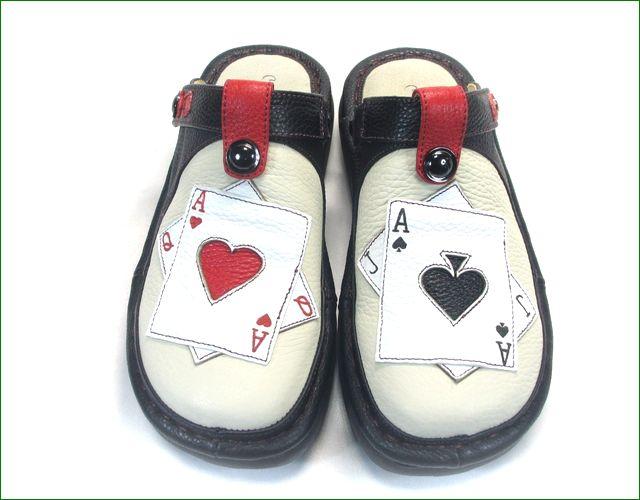 エスタシオン靴  estacion  et3371ivbl アイボリーブラック アップ画像