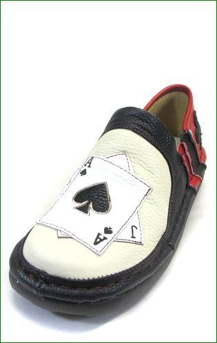 エスタシオン靴  estacion  et337ivbl アイボリーブラック 左画像