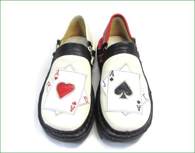 エスタシオン靴  estacion  et337ivbl アイボリーブラック アップ画像