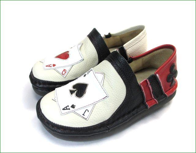 エスタシオン靴  estacion  et337ivbl アイボリーブラック 全体画像