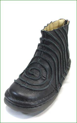 エスタシオン靴 estacion et340bl  ブラック 左画像