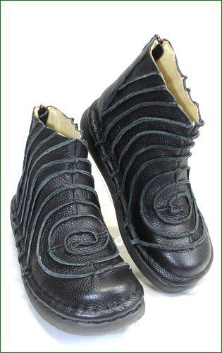 エスタシオン靴 estacion et340bl  ブラック 右画像