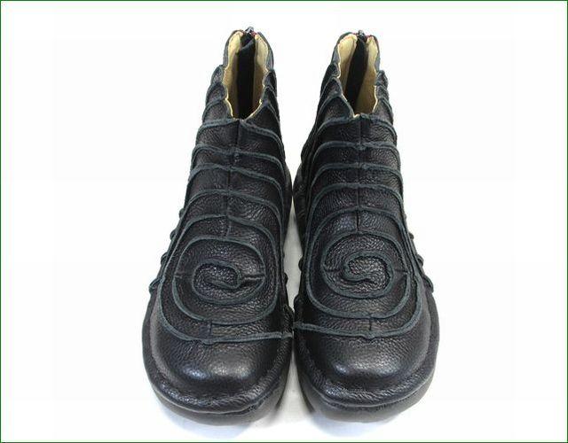 エスタシオン靴 estacion et340bl  ブラック アップ画像